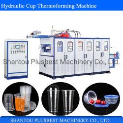 차잔 우유 커피 잔을%s Thermoforming 가득 차있는 자동 유리제 기계