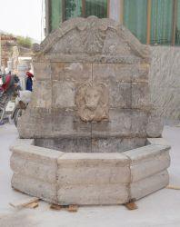 Qualidade superior personalizadas feitas à mão na parede de mármore antigo Fountain com cabeça de leão