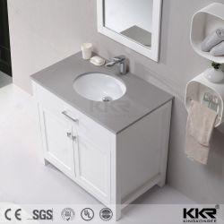 Parte superiore di pietra di superficie solida acrilica di vanità del dispersore di vanità della stanza da bagno