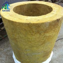 un tubo economizzatore d'energia delle 80 100 120 del migliore condizionamento d'aria di prezzi 140kg/M3 del condotto dell'involucro lane di roccia, tubo dell'isolamento delle lana di scorie del tubo delle lane di roccia di prezzi di fabbrica della Cina