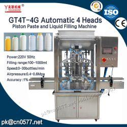 Автоматическая 4 головок автоматическая жидкого меда очищенной питьевой воды минеральные воды мойка заполнение Capping машины (GT4T-4G1000)