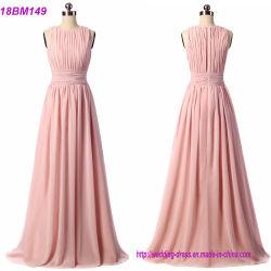 Muestra Real Chiffon Largo personalizado Bridesmaid Dress