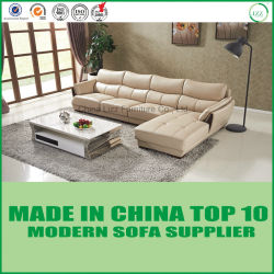 Sofa italien de fantaisie moderne 3+1+Chaise de bureau de cuir véritable