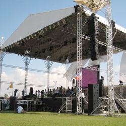 カスタムアルミニウムコンサートイベント、ステージ機器用ルーフステージトラス 屋内屋外用ポータブルステージルーフトラスの