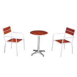 Хороший современный отель расположен в саду патио алюминий деревянная терраса огнеупорные круглый обеденный стол и стулья Домашняя мебель