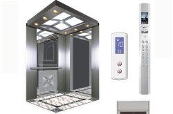 Edelstahl-Hochbau-Passagier-Höhenruder-Aufzug Asien-FUJI Vvvf mit herrlicher Dekoration