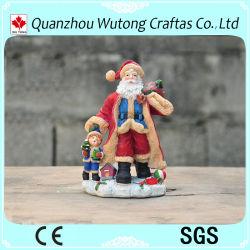 Handgemalte Harz Weihnachtsartikel Weihnachtsmann Figur Haus und Urlaub Dekoration