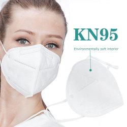 세륨 N95 FFP2 FFP1 비 길쌈된 먼지 5 가닥 처분할 수 있는 인공호흡기 디자인을%s 가진 방어적인 KN95 가면 디스트리뷰터