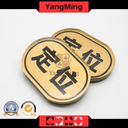 のための工場の新しい設計金の絹のスクリーンの楕円のブランドの位置 カジノポーカーゲーム( YM-LE03 )