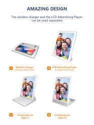 新しい 9.7 インチワイヤレス充電器 WiFi デジタルフォトフレーム 15W 広告ディスプレイ付き高速充電ワイヤレス充電器
