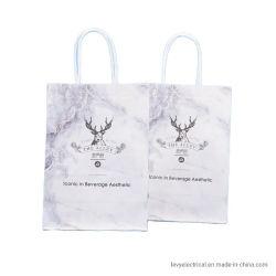 Venta de mejor diseño geométrico de alta calidad 210 gramos de papel bolsas de regalo con papel plano maneja personalizados hechos a mano personalizadas