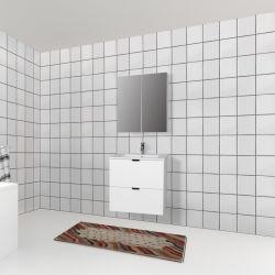 Bagno bianco, lavandino, lavandino, lavandino, unità di cortesia in PVC