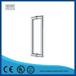 En acier inoxydable 304 porte en verre double face de tirer la poignée