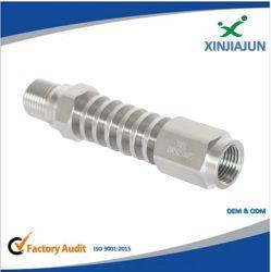 As conexões pneumáticas e hidráulicas, forjadas macho conexão de latão, máquinas CNC, Ferramentas de tubo de borracha do tubo de aço inoxidável Graxeiras