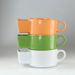 Neuer Artikel Keramik 15oz Creative Color Glaze Biscuit Becher für Großhandel
