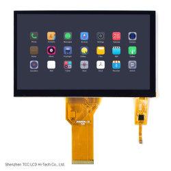TFT de 7 polegadas 1024x600/800x480 Pontos FT5436/FT5426 IPS com monitor de ecrã táctil capacitivo visor LCD