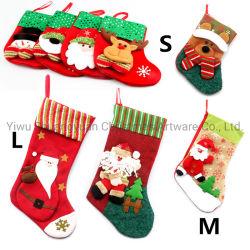 Trasporto d'attaccatura di goccia della calza di natale dell'albero di natale del sacchetto del regalo della caramella dell'orso del Babbo Natale del calzino della calza di natale