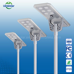 우키솔라 올인원 40W 60W 90W 100W 140W 실외 IP67 OEM Solar LED 스트리트 가든 로드 라이트(리모콘 포함 CCT를 이용한 동작 센서 통합/마이크로파 유도