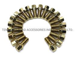 Los pernos de la rueda de oro y de bloqueo 12X1.25 12X1,5 14X1,5 16X1,5 14X1.25 a utilizar todos los modelos de coches y personalizar OEM