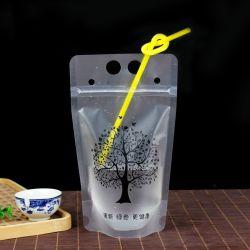 Sac boisson de jus de fermeture à glissière de la courroie d'emballage de liquides