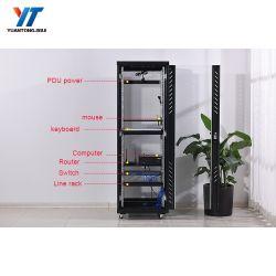 Server-Zahnstange Stahldes ineinander greifen-Tür-Fußboden-stehende Zahnstangen-Schrank-Netz-Schalter-19 des Zoll-42u