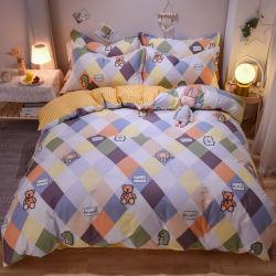 Fabbrica all'ingrosso puro cotone Set spazzolato quattro pezzi, nuovo letto di cotone lenzuola copriletto per bambini