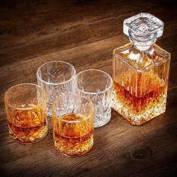 Meest populaire Cadeaudoos glazen deksel luchtdicht glas Whiskey Decanter Glas wijn Decanter