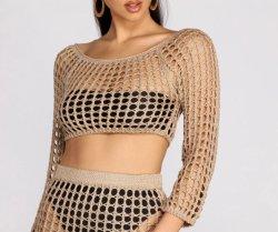 Женщин моды спицы шикарный культуры верхней одежды
