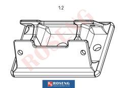 Peilung-Fuss-Motorlager-Gussteil-Bauteile für Exkavator