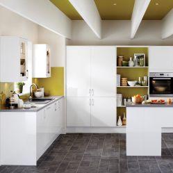 Gaveta antigo Quartz Branco MDF PVC armário de cozinha