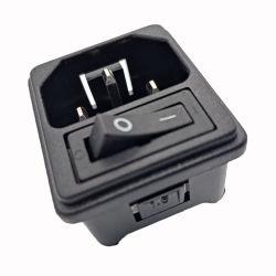 IEC macho-C14 a 3 pines hembra conector IEC AC Power Enchufe hembra interruptor eléctrico
