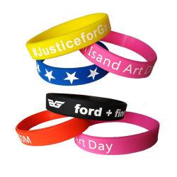 Cadeau promotionnel prix d'usine Sport Bracelet en caoutchouc silicone bracelet avec logo personnalisé