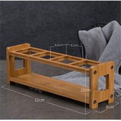 Дружественность к окружающей среде и отдельно стоящие поверхность стола из бамбука растительного масла держатель для 4 бутылочек