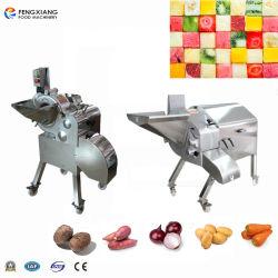 Fábrica de processamento de alimentos frutas vegetais de raiz de cortar em cubos, picar a máquina