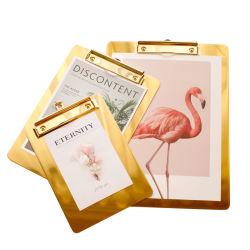 Золото из нержавеющей стали файлов в папке в меню прибора Clip, Билл Clip, бумаги A4 в буфер обмена