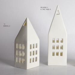 Haus-Form-Weihnachtskeramischer Dekor für Hauptdekoration
