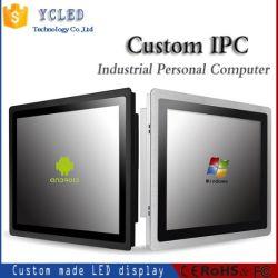 15-дюймовый сенсорный экран промышленности персональный компьютер с установленным на стене
