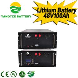 양쯔이 5000+ 사이클 타임 48V 100ah 200ah 충전식 LiFePO4 리튬 Ion Solar Battery Power Bank 가격