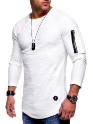 Pullver der Männer Sports Eignung-Long-Sleeved Punkform-Kleid mit Reißverschluss