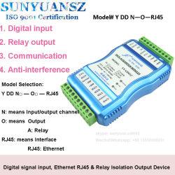Syddn-RJ45 de serie de canales múltiples de entrada de señal digital, Ethernet RJ45 y el aislamiento de dispositivo de salida de relé de la recopilación de datos