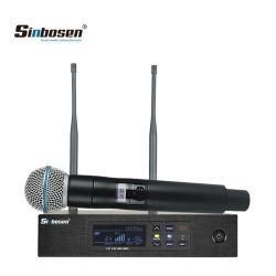 640-690 MHz Qlxd4 Conjunto completo de la cabeza auricular de mano de solapa Lavalier micrófono inalámbrico UHF profesional al aire libre
