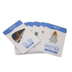 O logotipo personalizado imprimindo Tamanho Padrão Crianças Bebé Inglês Chinês cartões de aprendizagem de cartões flash