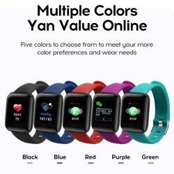 2021 Fabricant Nouveau Bracelet Smart 116 PLUS D13 116plus Smart montre avec caméra de contrôle des soins de santé Moniteur de la pression artérielle en oxygène