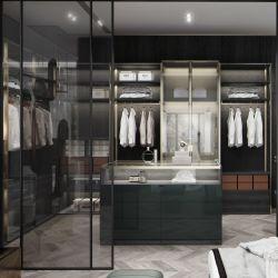Heiße Verkaufs-Möbel-moderne kundenspezifische Schlafzimmer-hölzerne Garderobe