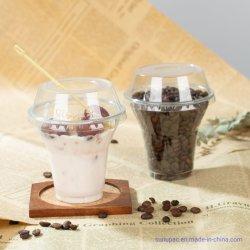 Amigo do ambiente de impressão personalizado 9&12oz Grau Alimentício embalagens descartáveis Iogurte Cup, Descartáveis copos de terceiros para sobremesa, Sorvete Sundae, doces