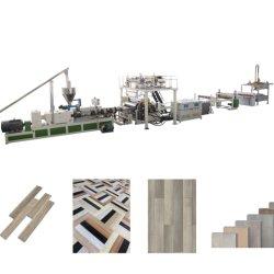Spc Vinyl 바닥용 자동 플라스틱 시트 PVC 압출기 기계 PVC 바닥