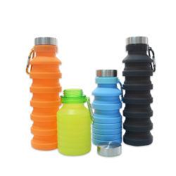 Novas e criativas ajustável espremido garrafa de água de desportos de dobragem de escalada de Viagens caminhadas bebida garrafas chaleira 550ml