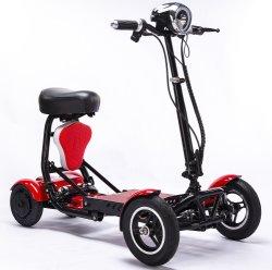 Dh0305 Blau leistungsstarke Mobilität Scootmobiel einfaches Laden in ein Auto Leicht Faltbar Lange Reichweite Tragbare Ältere 4 Rad Escotmobiel