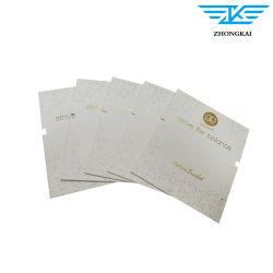 서류상 마분지에 의하여 접히는 목걸이 귀걸이 보석 선물 카드를 인쇄하는 관례