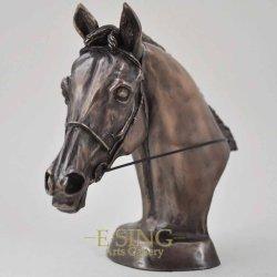 Fabbrica all'ingrosso tutti i tipi di bronzo rame Artigianato testa a cavallo Arredamento di Casa animale